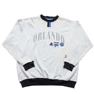 Vintage RARE Starter Orlando Magic Embroidered Graphic Crewneck - L/XL