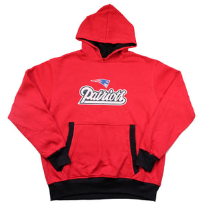Vintage New England Patriots Spell Out Hoodie - S/M