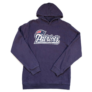 Vintage New England Patriots Spell Out Hoodie - S