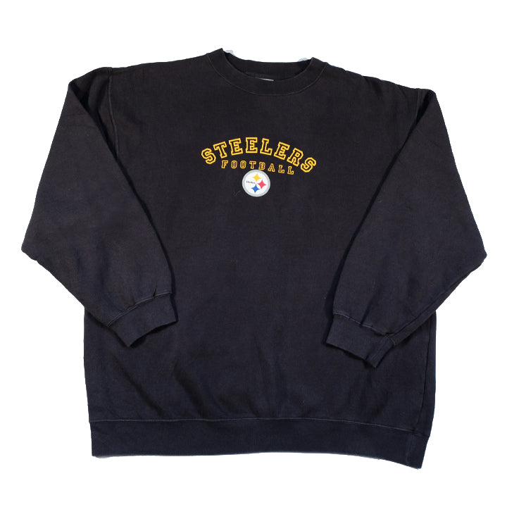 Vintage Pittsburgh Steelers Spell Out Crewneck - M