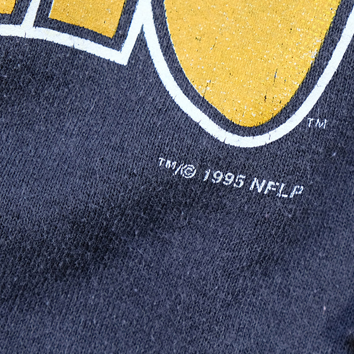Vintage 1995 Pittsburgh Steelers Big Spell Out Crewneck - L