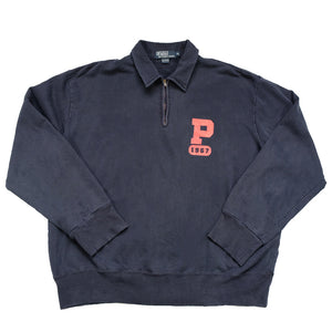 Vintage Polo Ralph Lauren Big P Quarter Zip Sweatshirt - XL