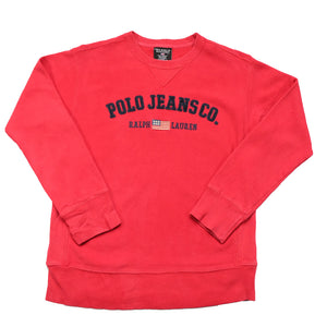 Vintage Polo Ralph Lauren Jeans Embroidered Spell Out Crewneck - S