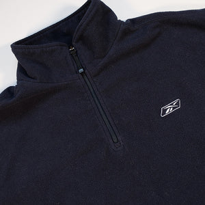 Vintage Reebok Embroidered Logo Quarter Zip Fleece - XXL