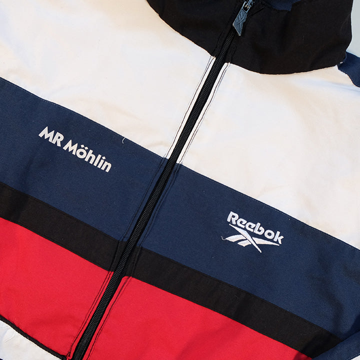 Vintage Reebok Embroidered Logo Track Jacket - L