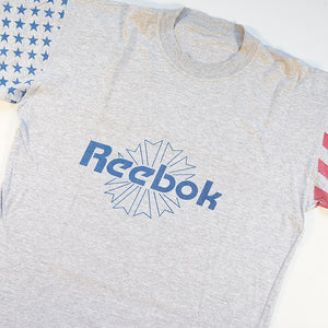 Vintage Reebok Spell Out Flag T-Shirt - L