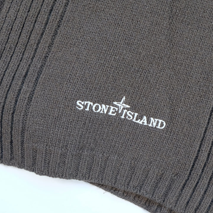 Vintage Stone Island Embroidered Logo Scarf