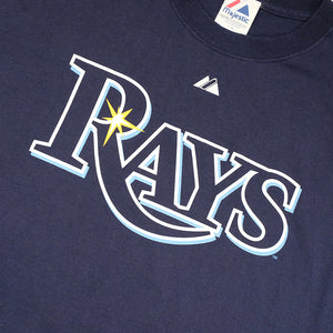 Vintage Tampa Bay Rays Spell Out Logo T-Shirt - XL