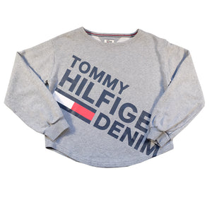 Vintage Tommy Hilfiger WOMENS Big Spell Out Sweatshirt - L
