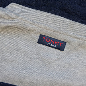Vintage Tommy Hilfiger Jeans Embroidered Spell Out Fleece Sweatshirt - L/XL