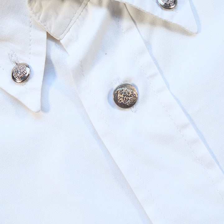 Vintage Versace Medusa Head Button Up Shirt - L