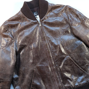 Vintage Versace Heavy Weight Leather Jacket Made In Italy - L