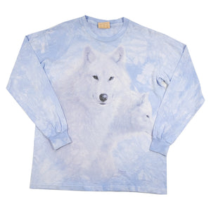 Vintage Wolf Graphic All Over Print Long Sleeve - M