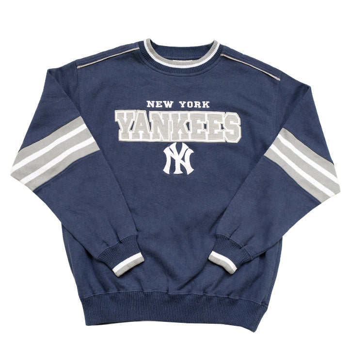 Vintage New York Yankees Embroidered Spell Out Crewneck - M