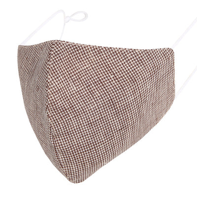 Fashionable Mask - Brown Houndstooth
