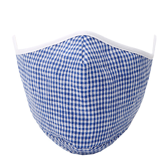 Fashionable Mask - Blue Gingham