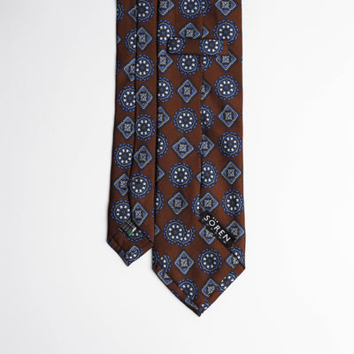 Printed Silk - Bars Brown