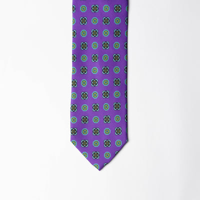 Printed Silk - British Purple