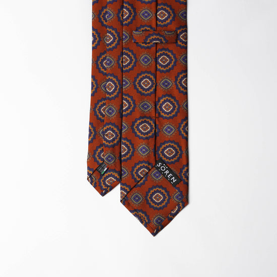 Printed Silk - Burnt Orange
