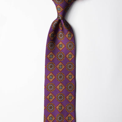 Printed Silk - Colourful Purple