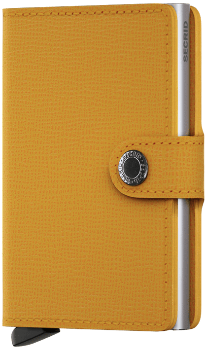 Secrid Wallet Crisple - Amber On Silver