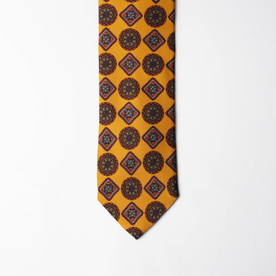 Printed Silk - Mustard Yellow
