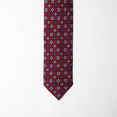 Printed Silk - Presidential Red