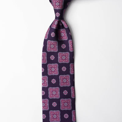 Printed Silk - Eggplant Purple