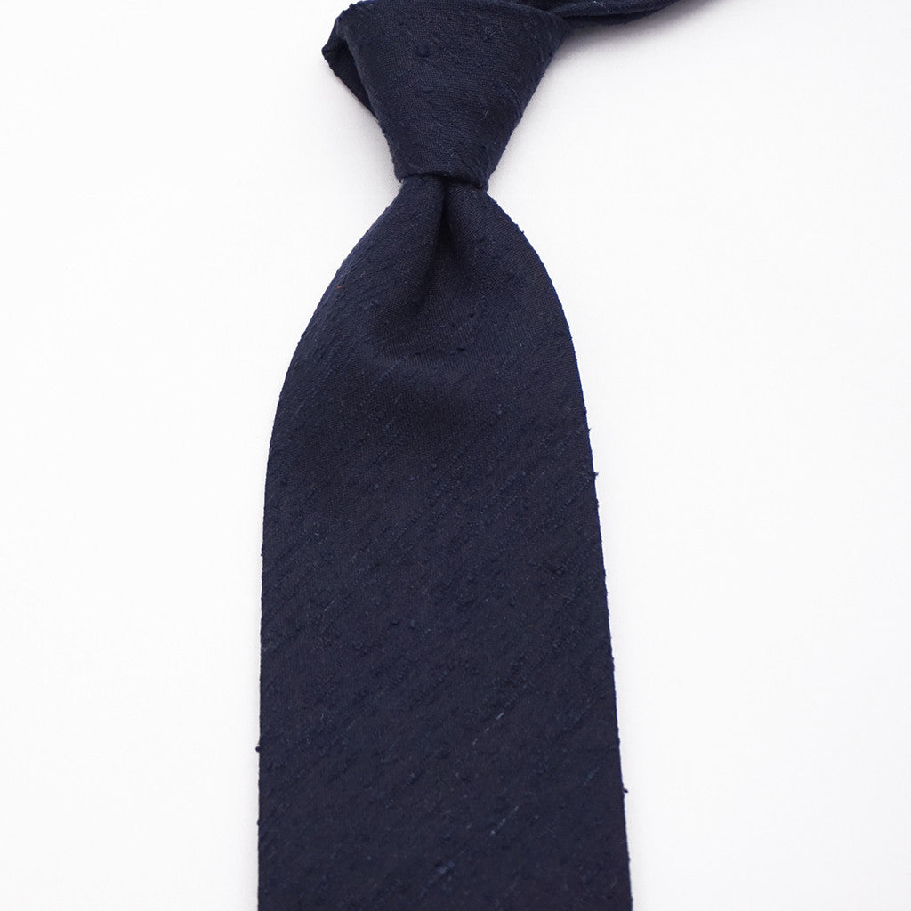Luxury Shantung Silk - Navy