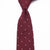 Luxury Shantung Silk Burgundy Polka Dots