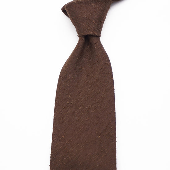 Luxury Shantung Silk - Brown