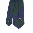 Luxury Shantung Silk - Green/Navy
