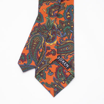 Madder Silk - Orange Paisley