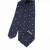 Luxury Shantung Silk Polka Dots - Navy