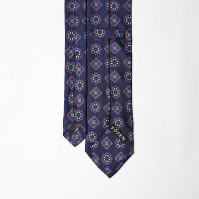 Printed Silk - Navy Base