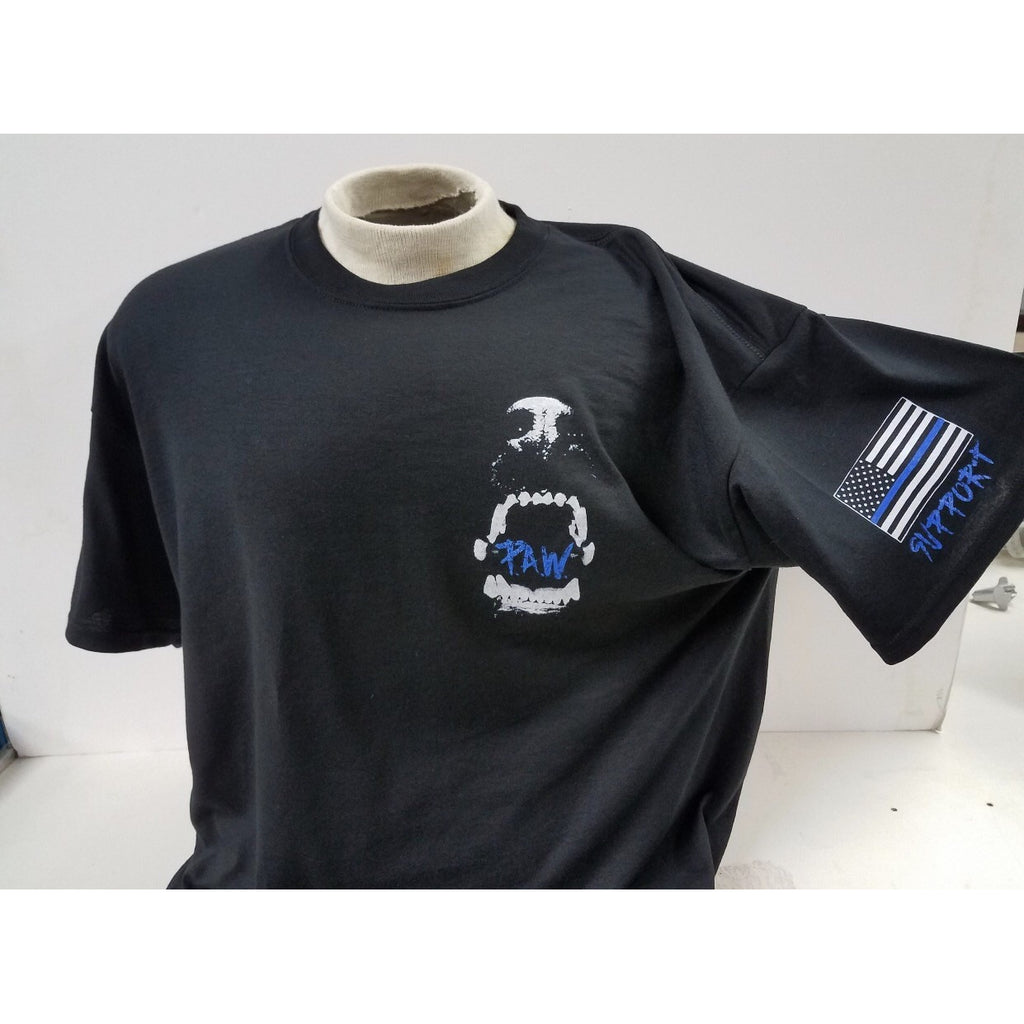 P.A.W Thin Blue Line Shirts-Adults – Preserving All Warriors 13f035743fc