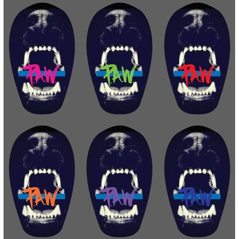 P.A.W Thin Blue Line Stickers