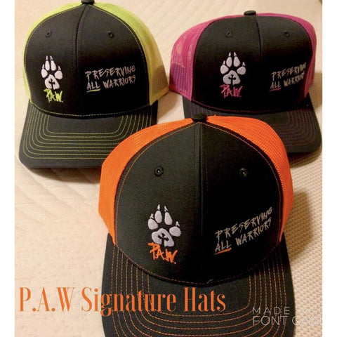 P.A.W. Signature Cap Snap-back (Orange/Pink/Blue/Lime)