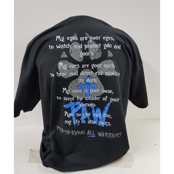 P.A.W Thin Blue Line Shirts-Adults