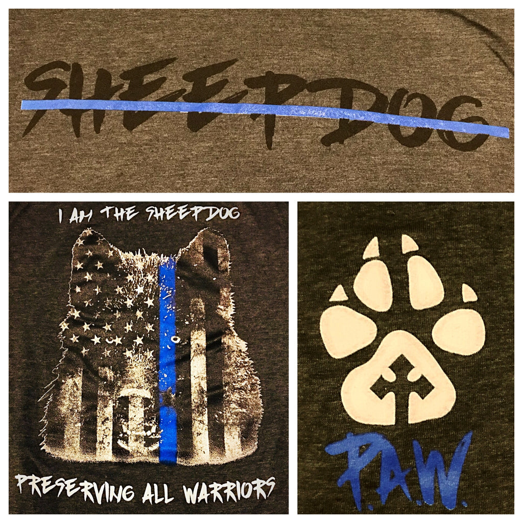 P.A.W Sheepdog (Thin Blue Line) Shirt