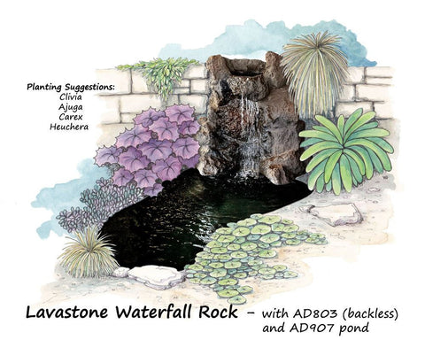 Adwater Lavastone - Waterfall Rock
