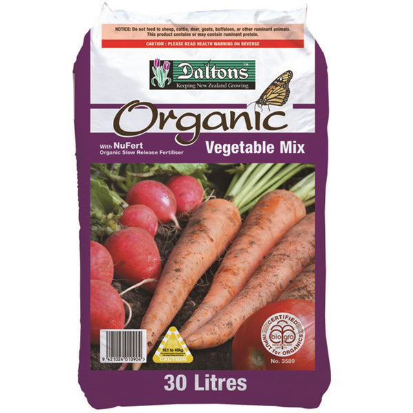 Daltons BioGro Organic Vegetable Mix 30L