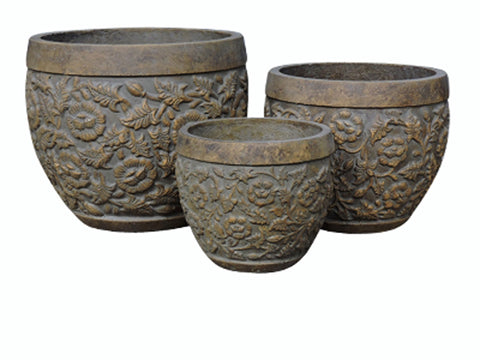 Fibre Cement Pot, Set of 3