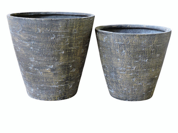 Poly Stone Pot, Set of 2