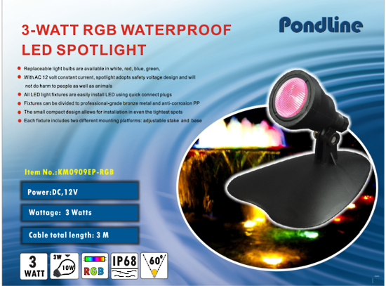 PONDLINE 4 WATT LED - POLYPROPYLENE - SET OF 3