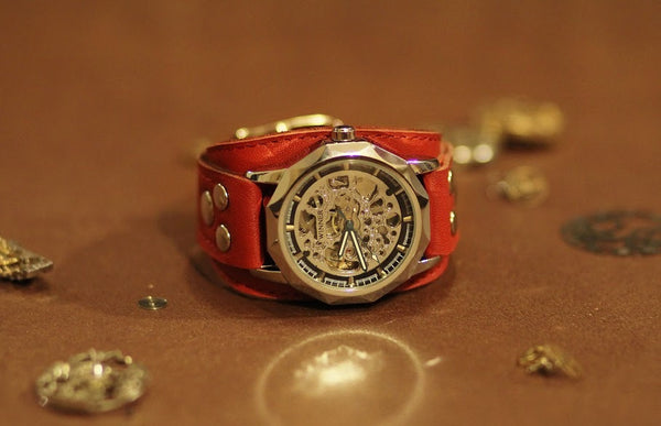 INTRODUCING THE RED DESERT SKELETON WATCH