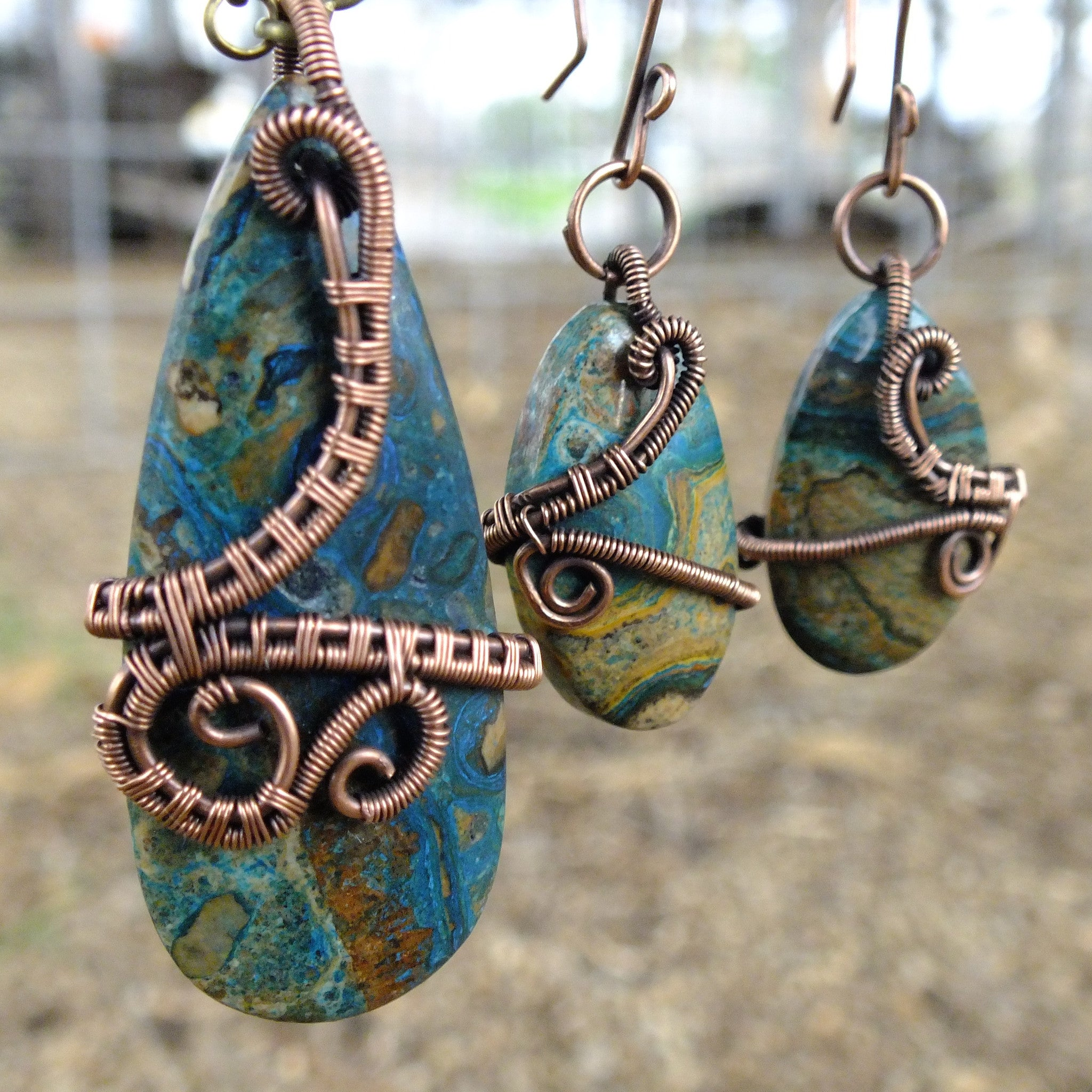 polyester resin patina with wearables rw and treated rebecca plant earrings marsh copper ghost jewelry buffed