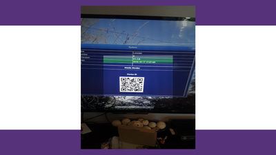 QR Code On Screen
