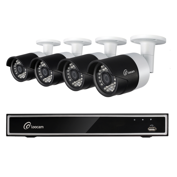 720p HD 4-Channel Security Camera System