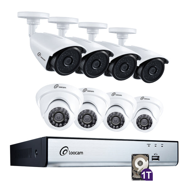 4MP 2K HD 8-Channel Security Camera System